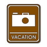 Scrapbook Customs - Sports Collection - Laser Cut - Vacation Sign
