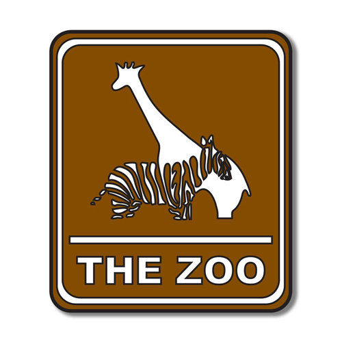 Scrapbook Customs - Sports Collection - Laser Cut - Zoo Sign