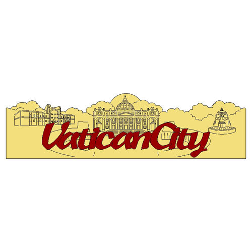 Scrapbook Customs - World Collection - Italy - Laser Cut - Vatican City - Word and Background