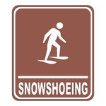 Scrapbook Customs - Sports Collection - Laser Cut - Snowshoeing Sign