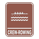 Scrapbook Customs - Sports Collection - Laser Cut - Crew Rowing Sign