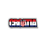 Scrapbook Customs - Travel Photo Journaling - Flag Word - Laser Cut - Croatia