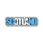 Scrapbook Customs - Travel Photo Journaling - Flag Word - Laser Cut - Scotland
