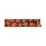 Scrapbook Customs - Word Image - Laser Cut - Basketball
