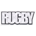 Scrapbook Customs - Word Image - Laser Cut - Rugby