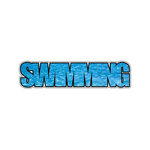 Scrapbook Customs - Word Image - Laser Cut - Swimming