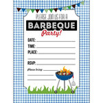 Scrapbook Customs - 4 x 5 Invites with Envelopes - Barbeque