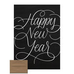 Scrapbook Customs - Chalkboard Cards - Happy New Year Script