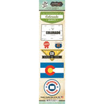 Scrapbook Customs - Vintage Label Collection - Cardstock Stickers - Colorado Vintage