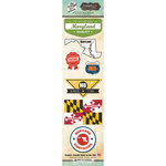 Scrapbook Customs - Vintage Label Collection - Cardstock Stickers - Maryland Vintage