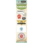 Scrapbook Customs - Vintage Label Collection - Cardstock Stickers - Massachusetts Vintage