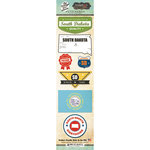 Scrapbook Customs - Vintage Label Collection - Cardstock Stickers - South Dakota Vintage
