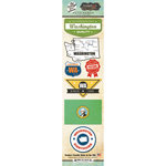 Scrapbook Customs - Vintage Label Collection - Cardstock Stickers - Washington Vintage
