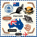 Scrapbook Customs - 12 x 12 Cardstock Stickers - Australia Sightseeing