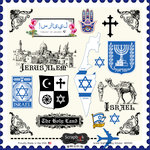 Scrapbook Customs - 12 x 12 Cardstock Stickers - Israel Sightseeing