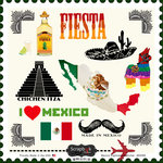 Scrapbook Customs - 12 x 12 Cardstock Stickers - Mexico Sightseeing