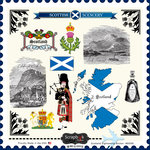 Scrapbook Customs - 12 x 12 Cardstock Stickers - Scotland Sightseeing