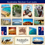 Scrapbook Customs - 12 x 12 Sticker Cut Outs - Australia Sightseeing