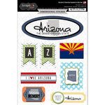 Scrapbook Customs - Travel Photo Journaling Collection - 3 Dimensional Stickers - Arizona