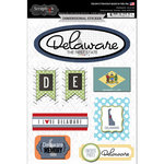 Scrapbook Customs - Travel Photo Journaling Collection - 3 Dimensional Stickers - Delaware