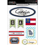Scrapbook Customs - Travel Photo Journaling Collection - 3 Dimensional Stickers - Georgia
