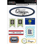 Scrapbook Customs - Travel Photo Journaling Collection - 3 Dimensional Stickers - Oregon
