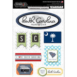 Scrapbook Customs - Travel Photo Journaling Collection - 3 Dimensional Stickers - South Carolina