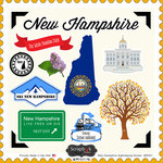 Scrapbook Customs - State Sightseeing Collection - 12 x 12 Cardstock Stickers - New Hampshire