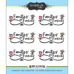 Scrapbook Customs - Cardstock Stickers - Families Are Forever - Flowers - Repeats