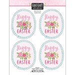 Scrapbook Customs - Card Craft Stickers - Happy Easter with Flowers