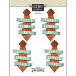 Scrapbook Customs - Card Craft Stickers - Happy Fathers Day Tie Banner