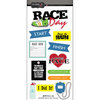 Scrapbook Customs - Cardstock Stickers - Race Day