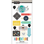 Scrapbook Customs - Cardstock Stickers - Travel Adventure - One