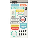 Scrapbook Customs - Cardstock Stickers - Travel Adventure - Two