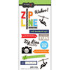 Scrapbook Customs - Cardstock Stickers - Zip Line Adventure