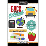 Scrapbook Customs - Cardstock Stickers - Back To School Things