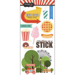Scrapbook Customs - Fun at the Fair Collection - Cardstock Stickers - Fair Food