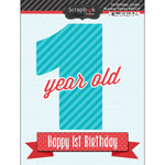 Scrapbook Customs - Happy Birthday Collection - 3 Dimensional Stickers - 1st Birthday
