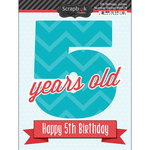 Scrapbook Customs - Happy Birthday Collection - 3 Dimensional Stickers - 5th Birthday