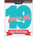 Scrapbook Customs - Happy Birthday Collection - 3 Dimensional Stickers - 19th Birthday