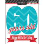 Scrapbook Customs - Happy Birthday Collection - 3 Dimensional Stickers - 60th Birthday