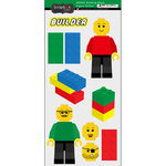 Scrapbook Customs - Building Blocks Collection - Cardstock Stickers - Lego Figures
