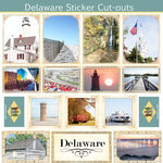Scrapbook Customs - State Sightseeing Collection - 12 x 12 Sticker Cut Outs - Delaware