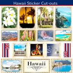 Scrapbook Customs - State Sightseeing Collection - 12 x 12 Sticker Cut Outs - Hawaii