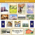 Scrapbook Customs - State Sightseeing Collection - 12 x 12 Sticker Cut Outs - Kentucky
