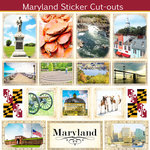 Scrapbook Customs - State Sightseeing Collection - 12 x 12 Sticker Cut Outs - Maryland