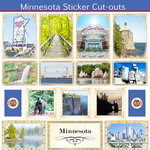 Scrapbook Customs - State Sightseeing Collection - 12 x 12 Sticker Cut Outs - Minnesota