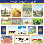 Scrapbook Customs - State Sightseeing Collection - 12 x 12 Sticker Cut Outs - Nebraska