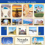 Scrapbook Customs - State Sightseeing Collection - 12 x 12 Sticker Cut Outs - Nevada