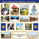 Scrapbook Customs - State Sightseeing Collection - 12 x 12 Sticker Cut Outs - New Hampshire